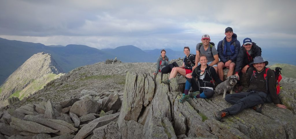 The team on top of Glyder Fach - Welsh 3000s