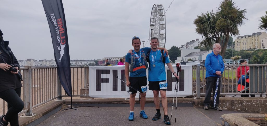 Finish line of an ultra marathon