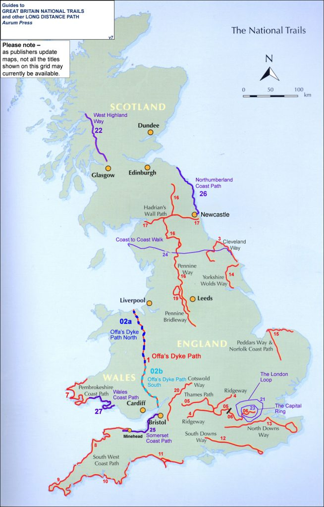 National trails map