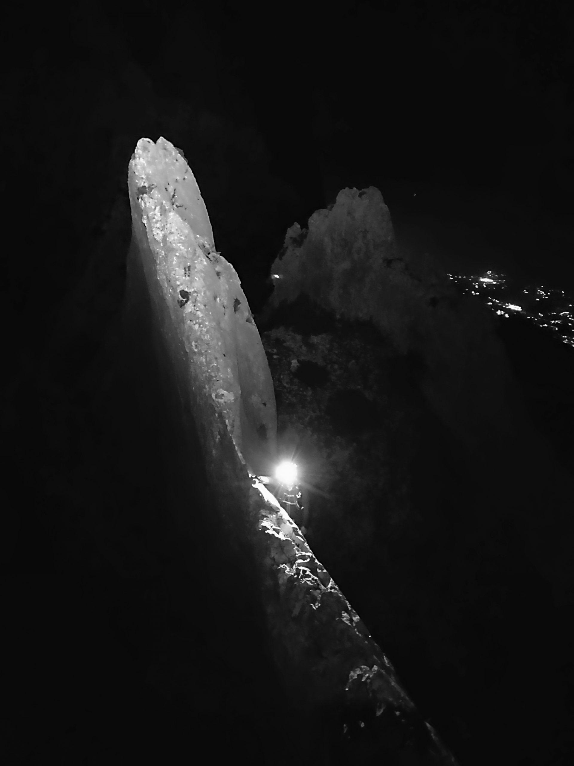 Bernia ridge at night