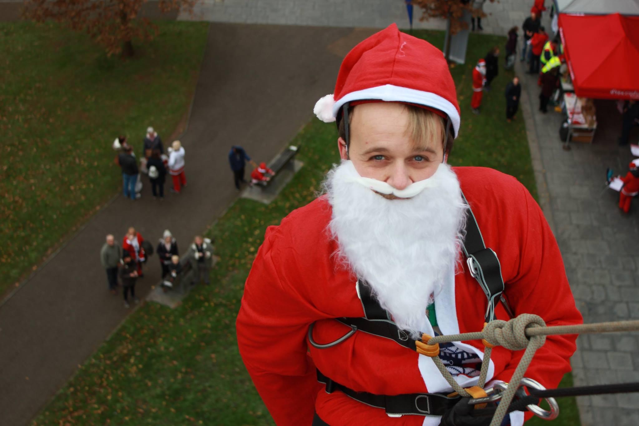 Santa charity abseil event