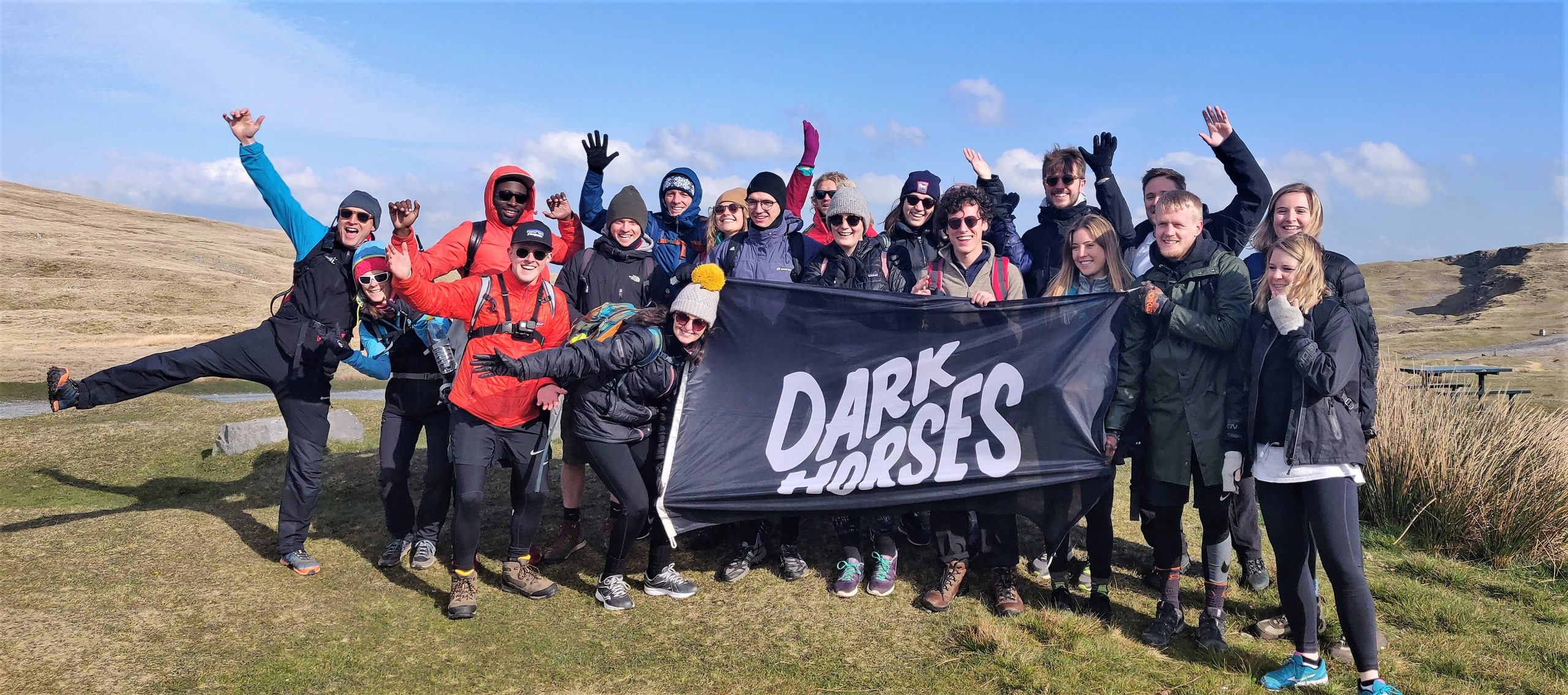 Dark Horses team on an adventure event
