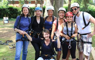 Kitting up on a charity abseil event