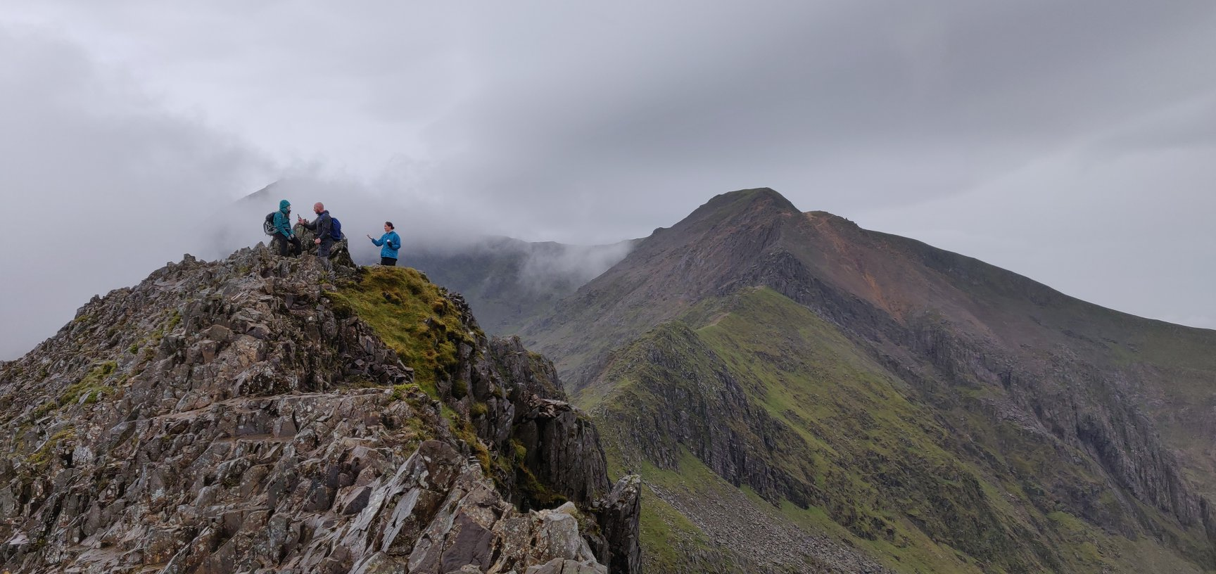 A group on Crib Goch, Snowdonia