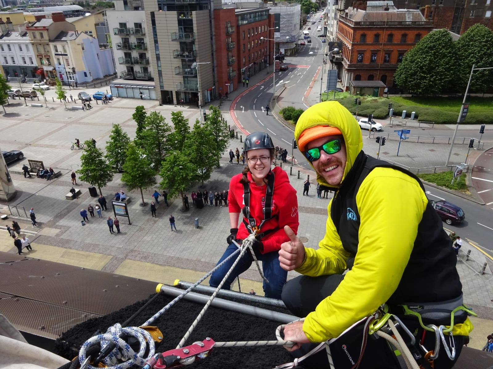Charity Abseil Event in Cardiff