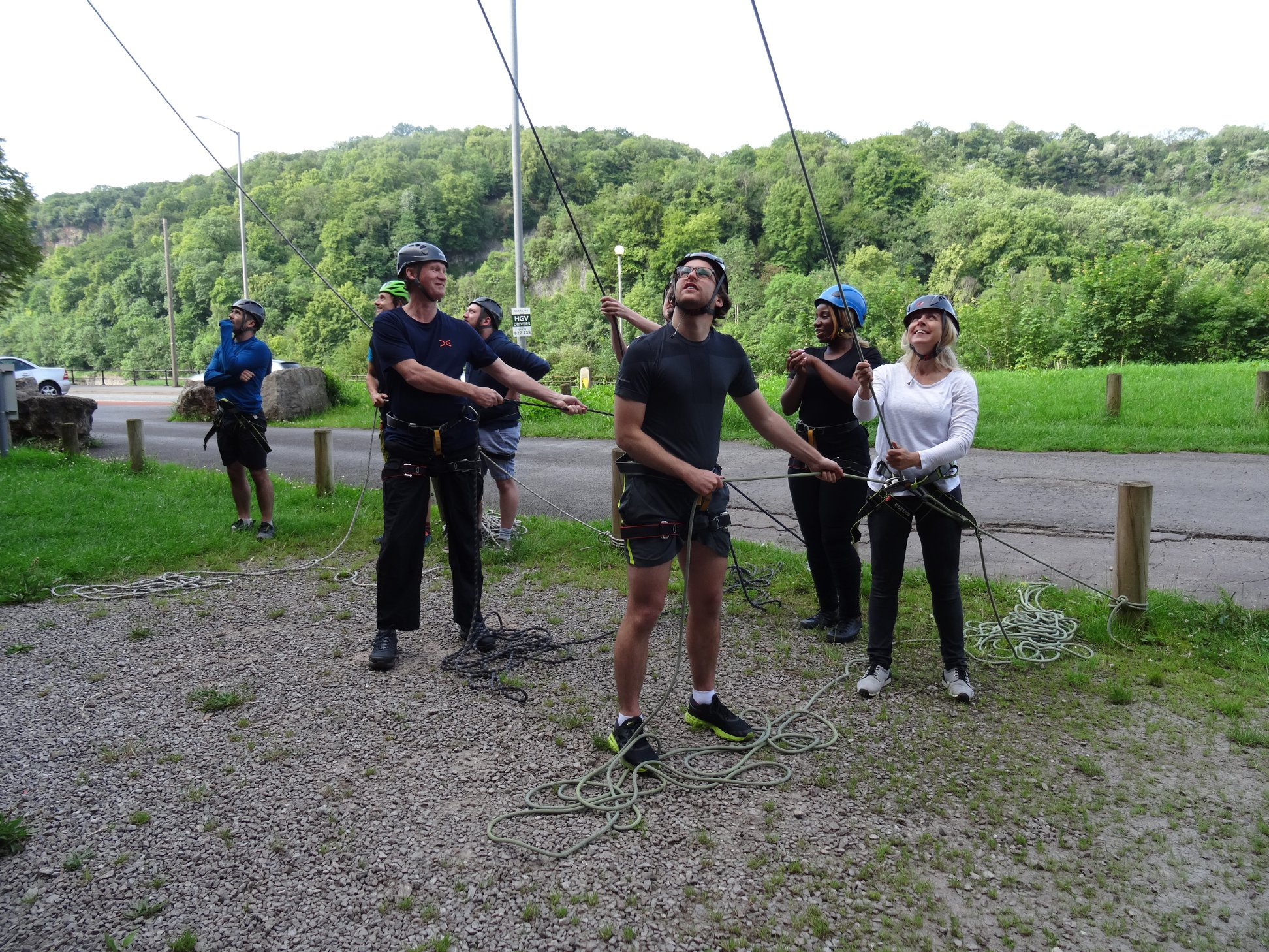 Rock climbing group session