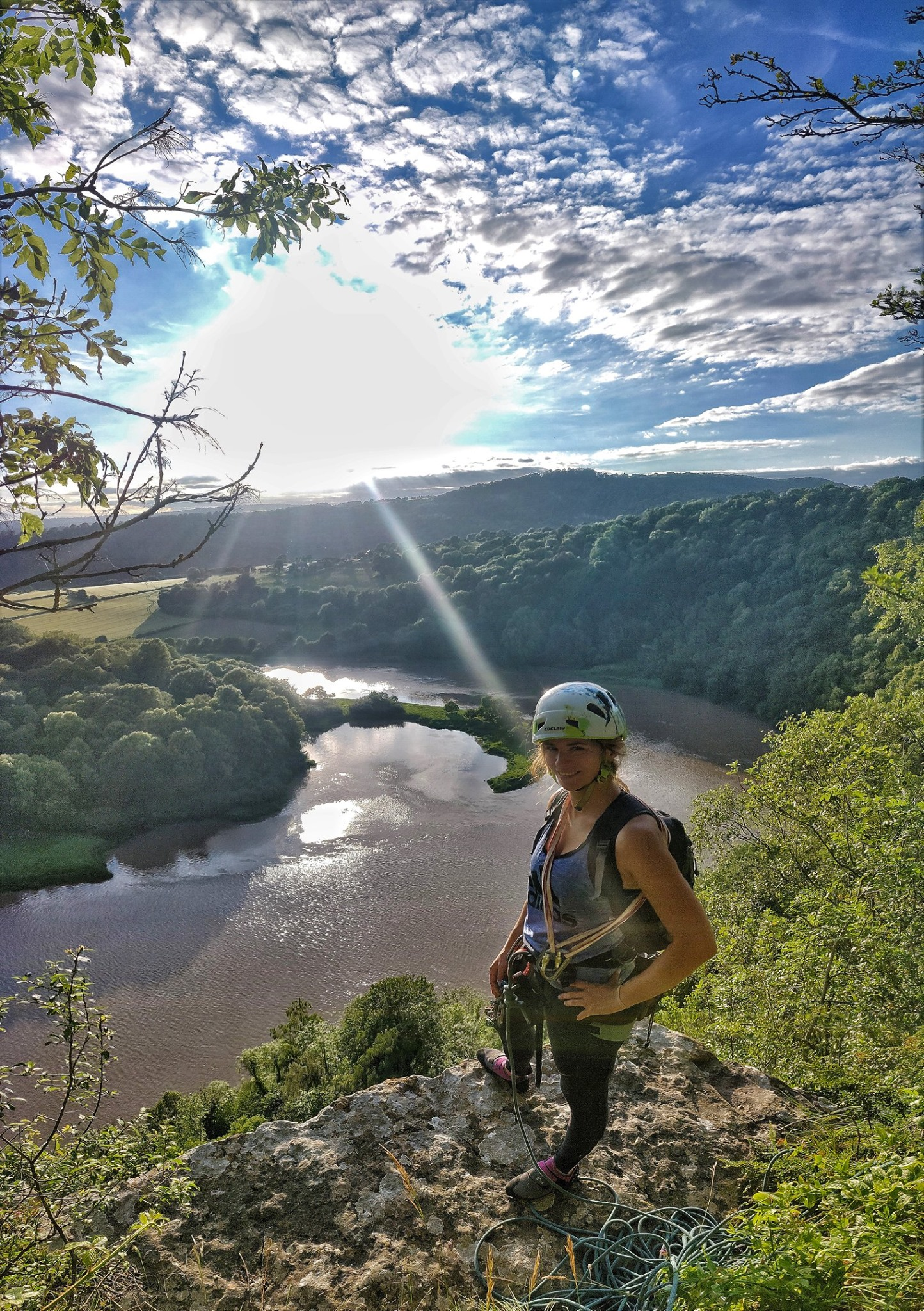 Rock climbing in the Wye Valley