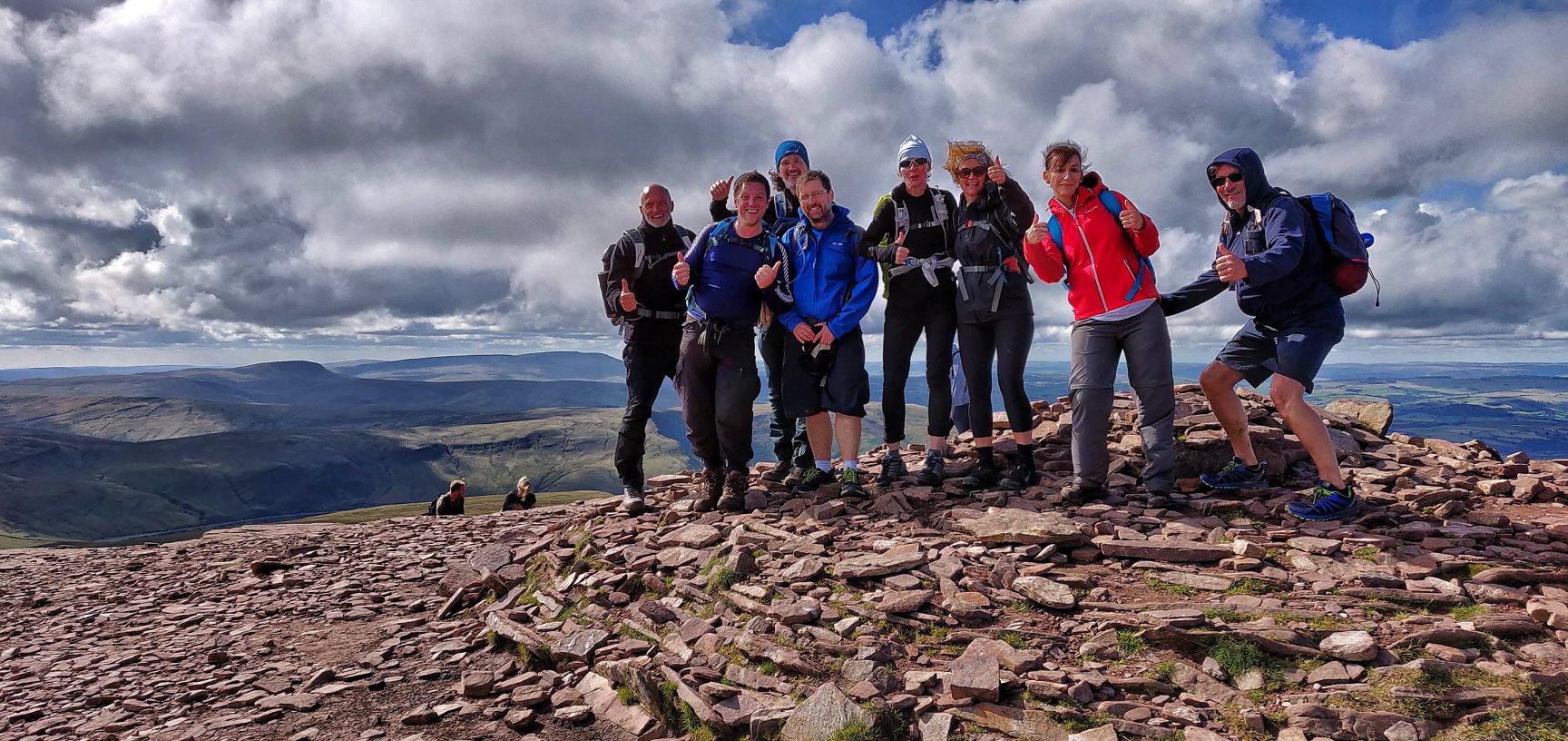 Pen y Fan Summit on the Brecon Beacons 10 Peak Challenge