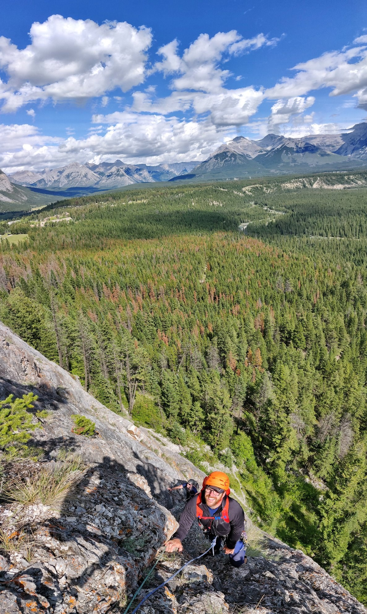 Multi pitch rock climbing