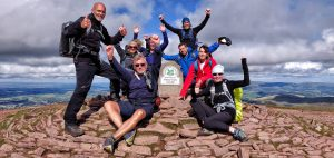 Pen y Fan Summit on the Brecon Beacons 10 Peak Challenge