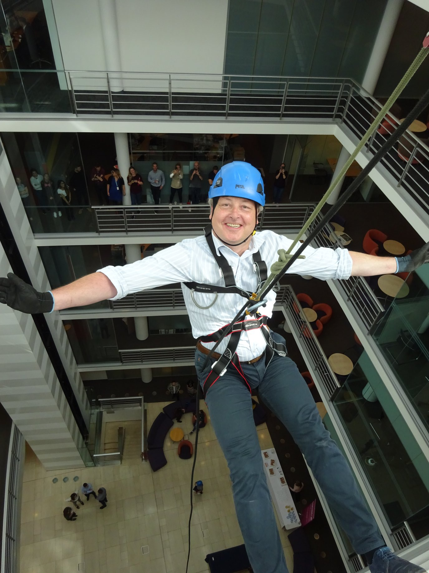Indoor Charity abseiling event