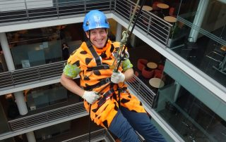 Indoor Charity abseil event