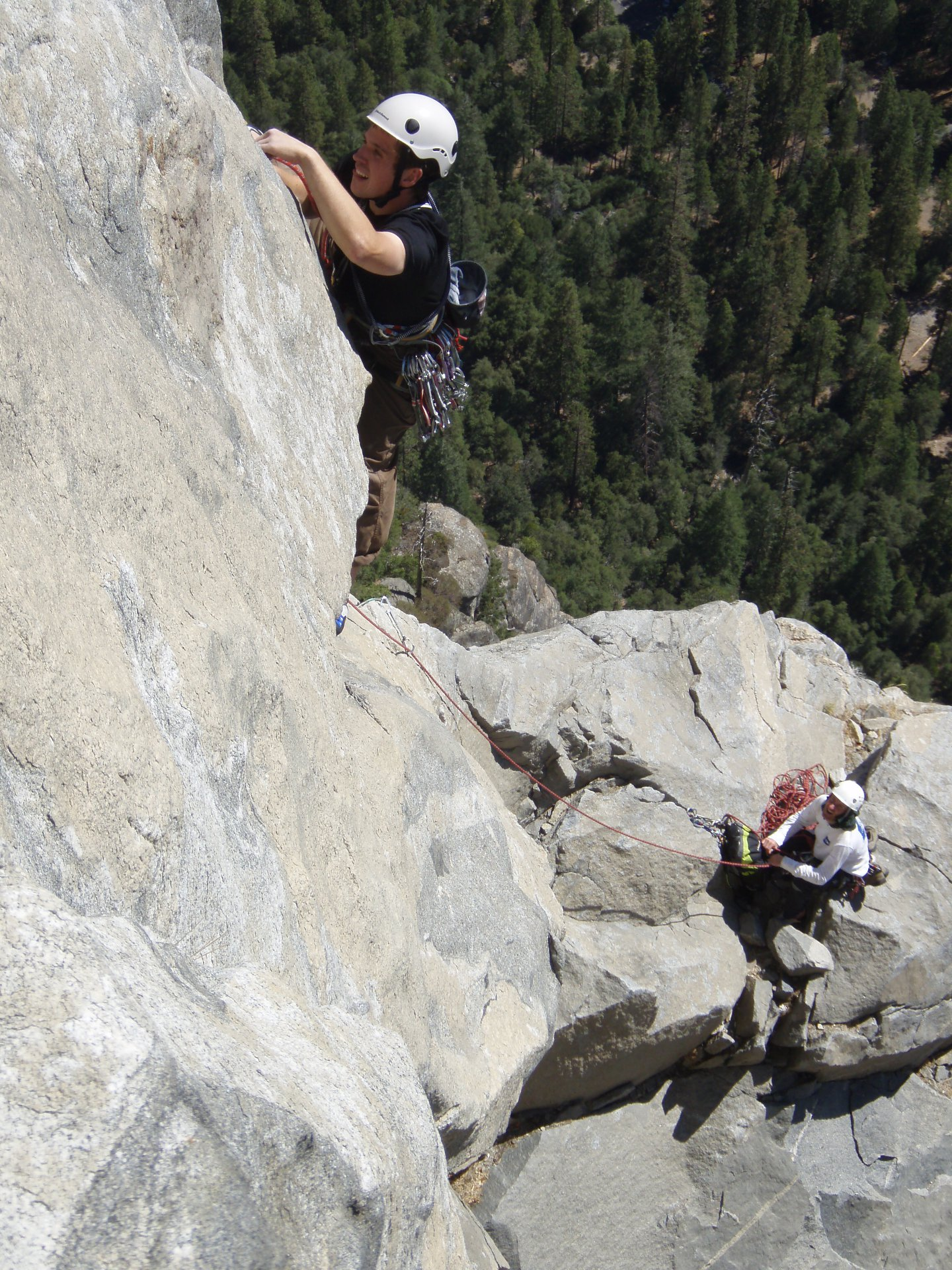 Learn to lead rock climbing course