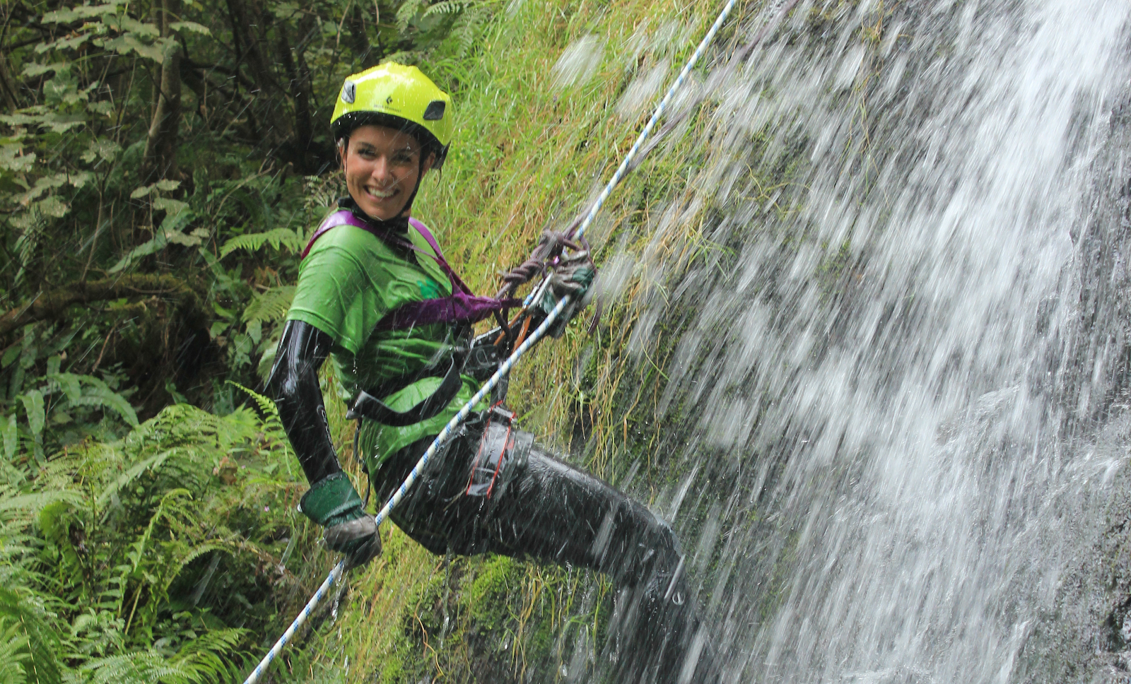 waterfall charity abseil event