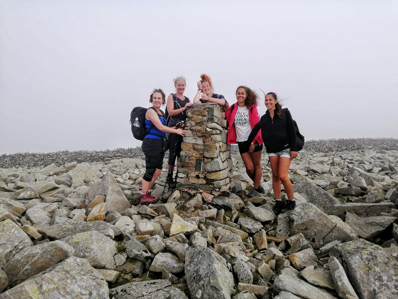 A team on the summit of Foel Fras 942m