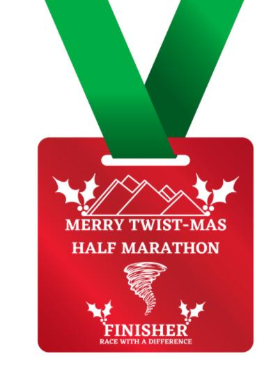 Twist-Mas Special Half Marathon Medal