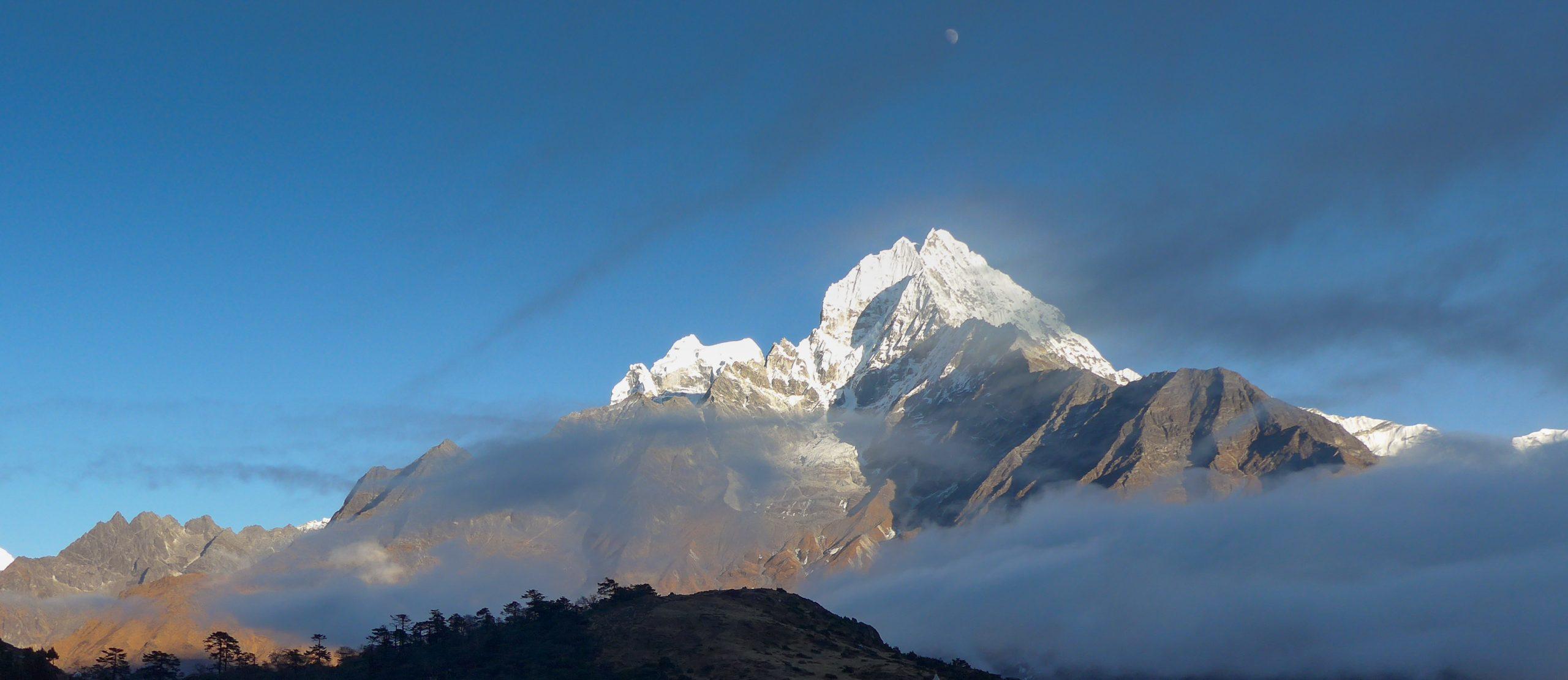Mountain summit in Nepal